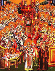318 Pontiffs participating in the Ecumenical Council of Nicaea